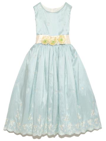 1280ef13e5ec1 ブルーグリーンのすがすがしいお色で、スカート裾部分の刺繍が美しい人気