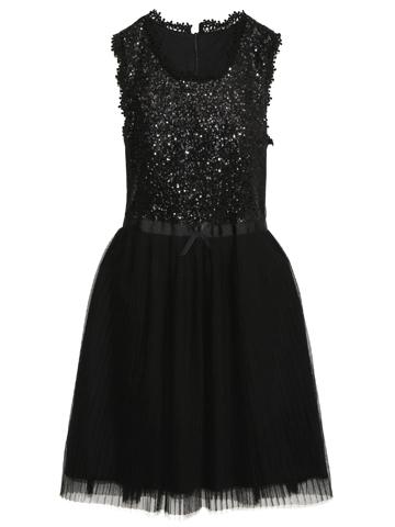 トップスはスパンコールがぎっしりと刺繍してあり、ライトにあたるとキラキラ反射してとても綺麗で華やか。伸縮性のある布地で着心地が良いドレスです。