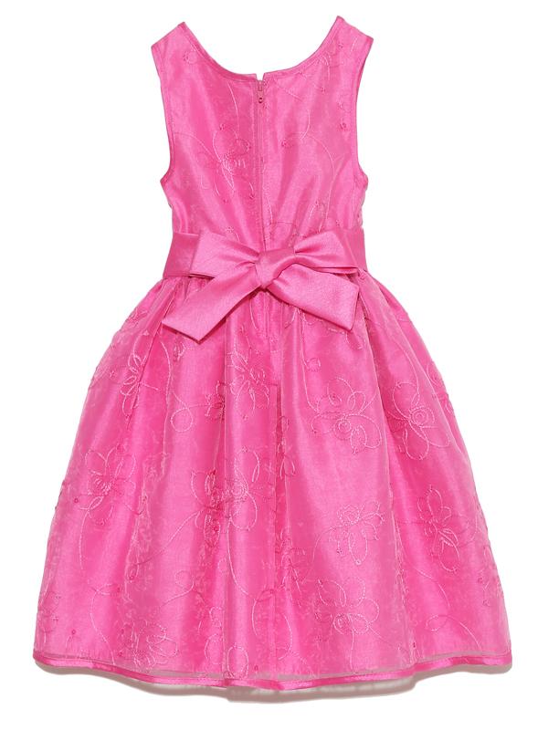 ドレスバックスタイル。女の子の大好きなピンク、少しハイウエストでかわいいシルエットのドレスです。結婚式・お食事会にどうぞ。