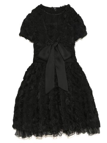 大きなローズモチーフの可愛らしくゴージャスなドレスです。付属ボレロで2パターンの着こなしを楽しんでいただけます。