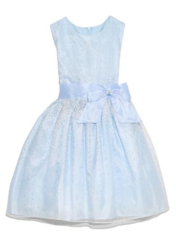 シルバーラメと明るい水色のドレスが透明感のある上品な雰囲気を演出してくれます。幅広いシーンでご活用いただけます。ミニ丈がとても可愛らしいインポートドレスです。