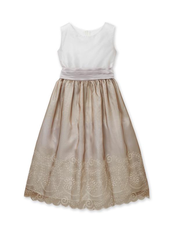 レンタル ジュニア ドレス*キャメロン140 ベージュ