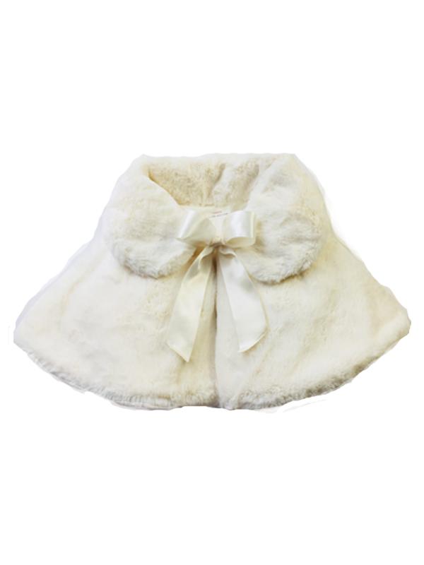 子供ドレスに合わせやすいケープです。
