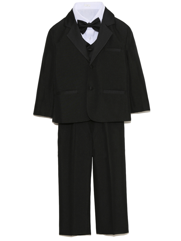 男の子をトータルコーディネイトしたとても便利でお洒落なベスト付きセットアップ商品です。 セット内容は、ジャケット・パンツ・シャツ・ネクタイ・サスペンダーとなります。