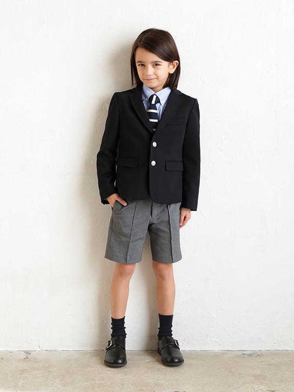 JPRESSフォーマルレンタル男の子スーツ。(モデル身長119㎝・サイズ120㎝着用写真)