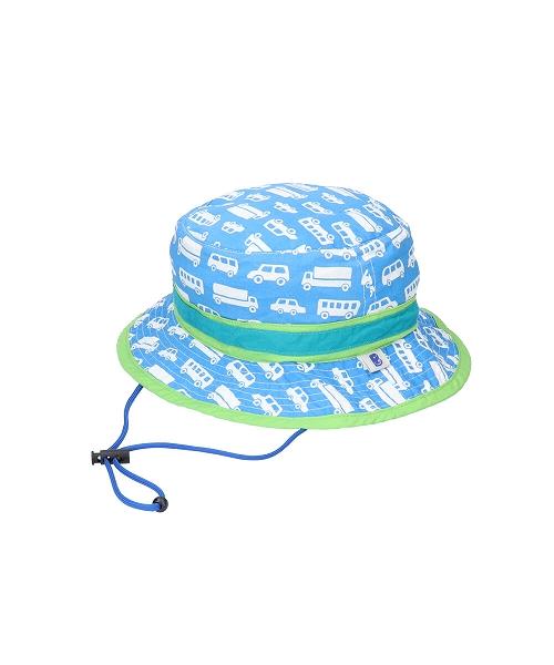 <たためる帽子>キッズ ポケット ハット くるまブルー(販売品)