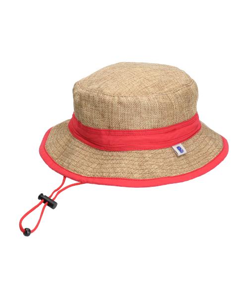 <たためる帽子>キッズポケットハット レッドリボン(販売品)