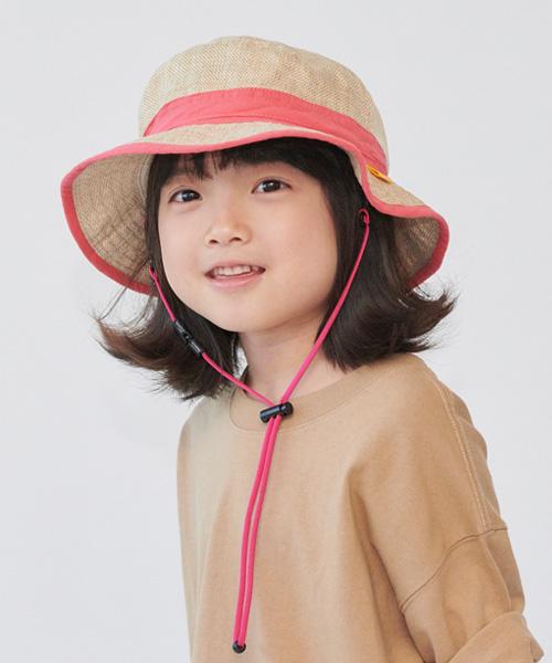 <たためる帽子>キッズポケットハット ピンクリボン(販売品)