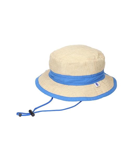 <たためる帽子>キッズポケットハット ブルーリボン(販売品)