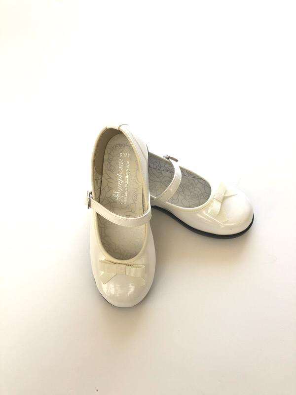 レンタル エナメルリボンシューズ白16cmS-244
