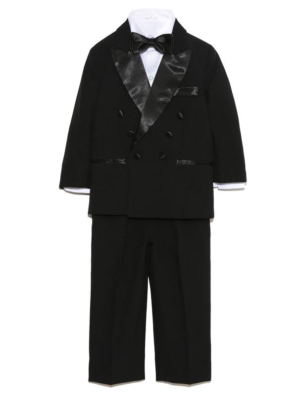男の子をトータルコーディネイトしたとても便利でお洒落なセットアップ商品です。セット内容は、ジャケット・パンツ・シャツ・ネクタイ・サスペンダーとなります。