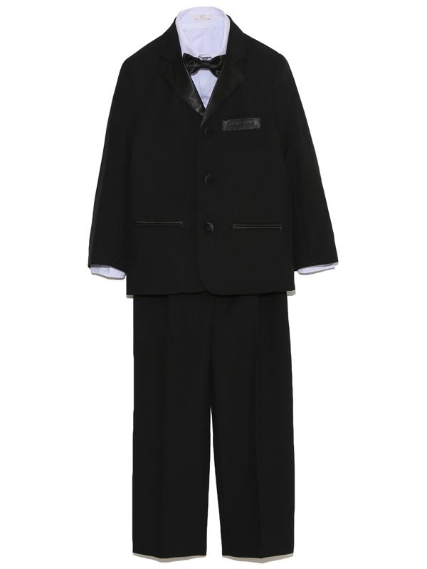 男の子をトータルコーディネイトしたとても便利でお洒落なセットアップ商品です。セット内容は、ジャケット・パンツ・シャツ・ベスト・ネクタイ・サスペンダーとなります。